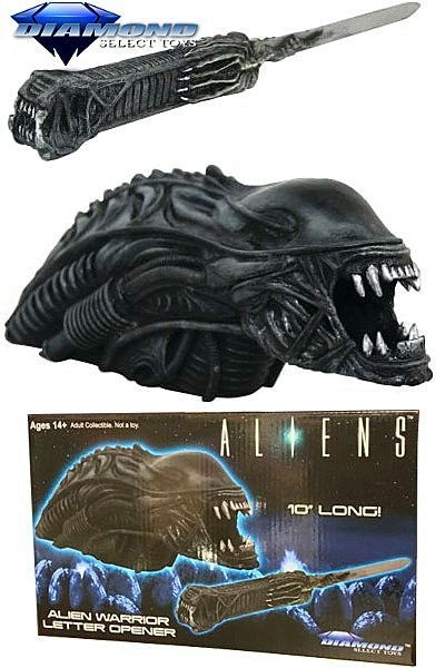 Diamond Select Toys Aliens Alien Warrior Resin Letter Opener